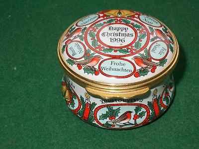 Lovely Halcyon Days Enamel Pill Box Christmas 1996