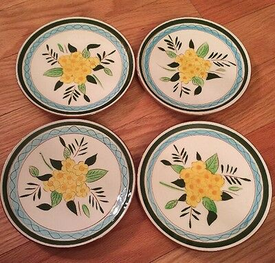 "Set of 4 STANGL POTTERY Country Garden 8"" Dessert Salad Plates"