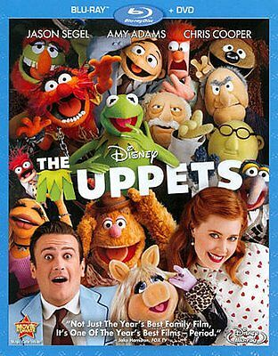 The Muppets (Blu-ray/DVD, 2012, 2-Disc Set) New Sealed