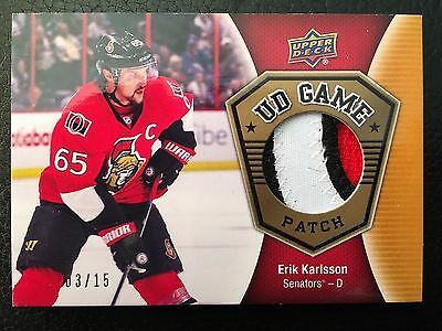 2016/17 Upper Deck 2 Erik Karlsson Ud Game Patch 3/15
