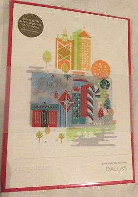 Starbucks DALLAS Holiday 2016 City Card Holiday Edition Christmas SpecialEd MINT