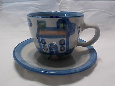 M A Hadley 8 oz Cup and Saucer- House