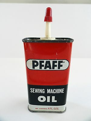 Vintage PFAFF Handy Oiler Can SEWING MACHINE OIL Chicago Advertising 4 oz.