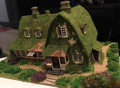 FALLER N GAUGE LASER CUT COTTAGE. NEW With Lighting Fully Decorated
