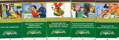 Complete Set of 5 Genesee Cream Ale matchboxes matchbook covers (girlie)