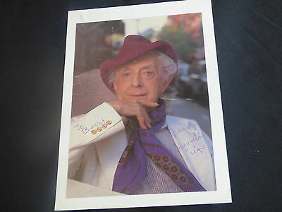 Quentin Crisp autographed full colour photograph