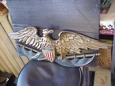 VINTAGE CAST  BRASS AMERICAN EAGLE  24 Inches