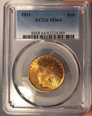 1911 $10 PCGS MS 64 Indian Head Gold Eagle