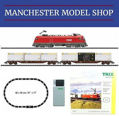 Trix Minitrix 11133 N 1:160 ÖBB 1016 Electric Freight Starter set NEW BOXED