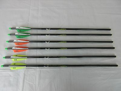 "Victory Xbolt carbon crossbow arrow 20"" Half Moon nock 6 pack w/ Practice tips"