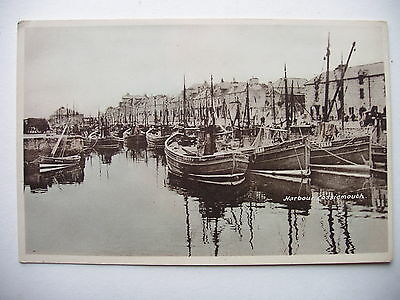 Lossiemouth Harbour - vintage postcard