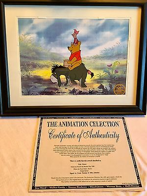 "Original Cartoon Animation Production Cels: ""Ant"",""Winnie Pooh"" W/ Certificates"