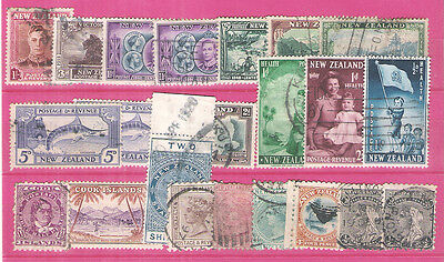 About 20 Stamps Oceania / New Zealand / Cook Islands / Mostly Canceled