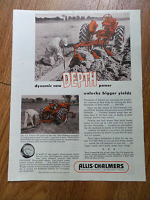1954 Allis-Chalmers Tractor Division Ad  The CA & WD-45 Tractors