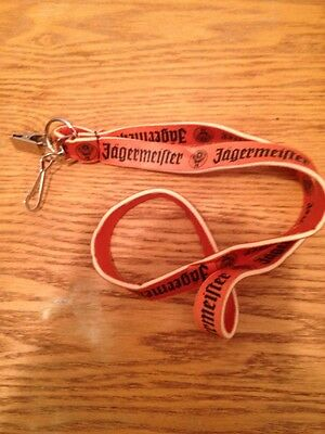 Orange and Black Design - NEW JAGERMEISTER LANYARD -  Keychain Ring - ID Clip-On