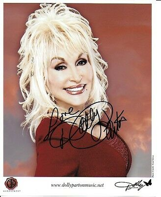 Dolly Parton pre signed 10 inch x 8 inch photo