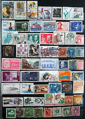 Good Collection of Different Used Swedish Stamps.