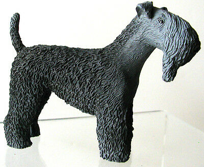 Beautifully Detailed KERRY BLUE TERRIER Figurine Item# DF114 - NEW w/ ORIG BOX