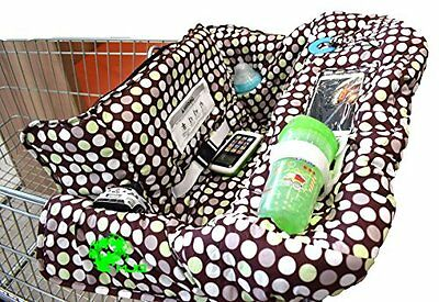 SALE!! MJQ Kids 2-in-1 Zip Up Shopping Cart and High Chair Cover for Baby wit...