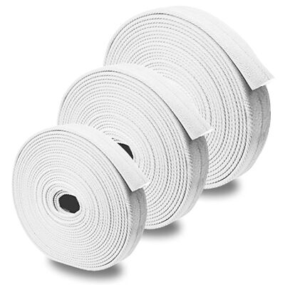"White 2.5"" x 100' Double Jacket Uncoupled Fire Hose"