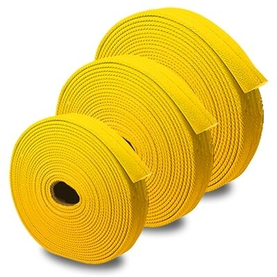 "Yellow 1"" x 100' Forestry Uncoupled Fire Hose"