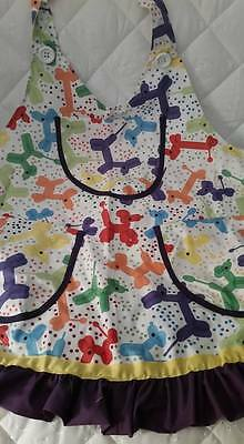 Balloon Dog Print Aprons for professional clowning, face painter, balloonist
