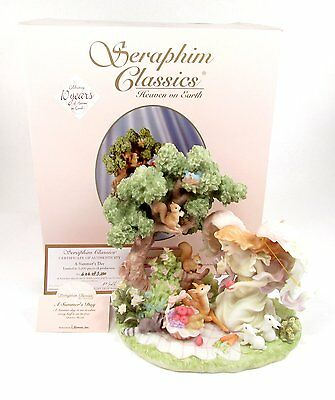 """Seraphim Angel 8"""" ~ A Summer's Day ~ SIGNED Limited Edn w/ CoA & Box #78212"""