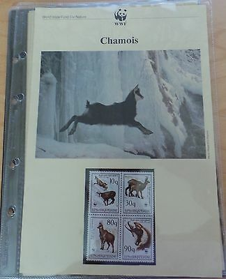 WWF Collection Chamois, FDC's, Mint Postage Stamps, Postcards