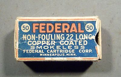 Empty Federal Non-Fouling Copper Coated 22 Long  Shell Box.