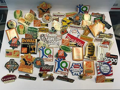 Lot of 67 Home Depot / Hardware Lapel Pins