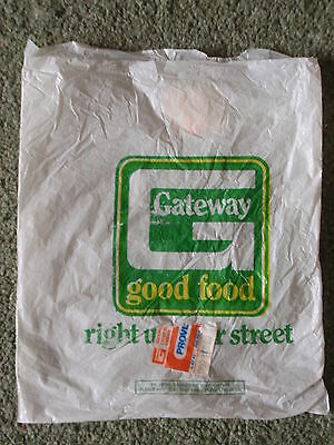 Vintage - Collector's Item -  'Gateway'  Small Plastic Bag