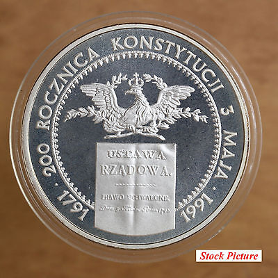 Poland – 1991 – 200000 Zlotych – 200th Anniversary of Polish Constitution - #705