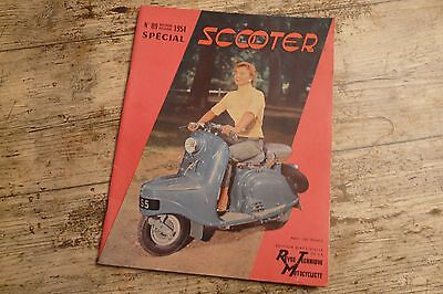 revue technique motocycliste n° 89 special scooter 1954