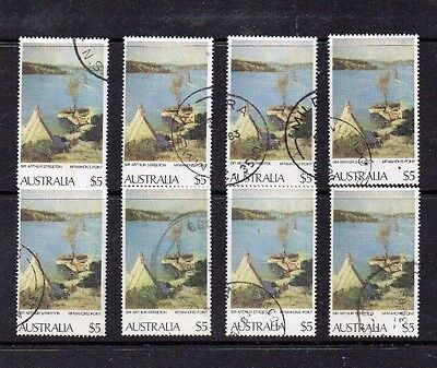 Australia 1979 $5 MacMahon's Point – 8 used copies all with cds cancels  STC £18