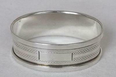 A Superb Solid Sterling Silver Oval Napkin Ring Birmingham 1933.