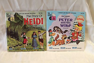 Peter and The Wolf & Heidi - Vintage Disney story & record -originals 1969