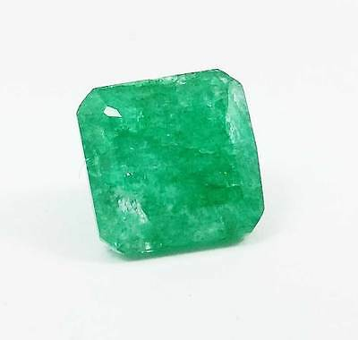 Beautiful 8.45  Ct Certified Natural Colombia Emerald Gemstone.