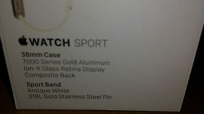 Apple Watch Series 1 38mm gold / Aluminium Case, antique white Sport Band