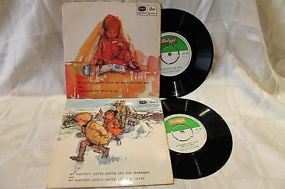 My Naughty Little Sister Vintage Story Records x2 from 1968