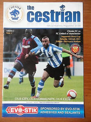 CHESTER v FC UNITED OF MANCHESTER 2011 Supporters Direct Cup Pre season football
