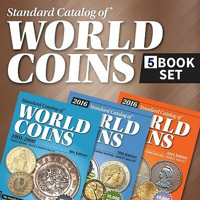 Coins total catalogs 5 books set 2017. edition