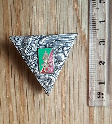 A 1948 French Foreign Legion Parachute Regiment Pin Badge 2 REP