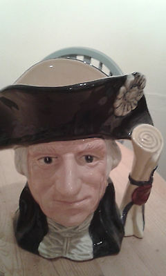 Large Size Vintage Royal Doulton Character Toby Jug D6669 George Washington