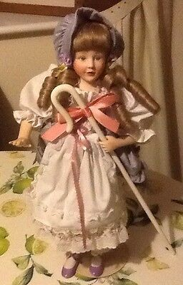 """DOLL Franklin heirloom doll """"Little Bo-Peep"""" bisque 17"""" exclusive"""