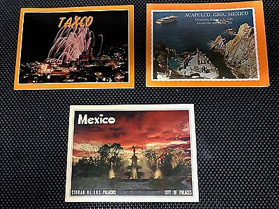 3 Vintage Mexico Travel Brochures from 1976