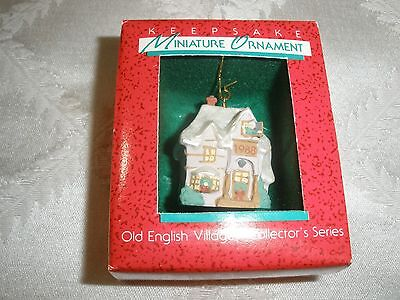 "Miniature Hallmark Keepsake Ornament~#1 ""old English Village""~1988~T9424"