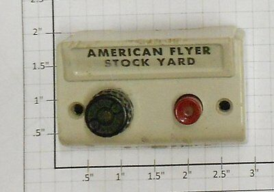 AF XA10961-W S Scale American Flyer Stock Yard Control Button White