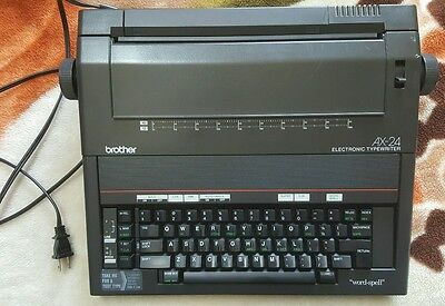 BROTHER AX-24 Portable ELECTRIC TYPEWRITER - Has Ink & Works!!