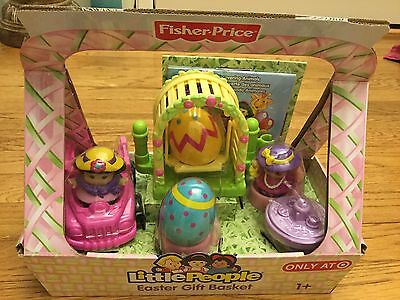 Fisher Price Little People Girl Easter Gift Basket Play Set Target Exclusive NEW
