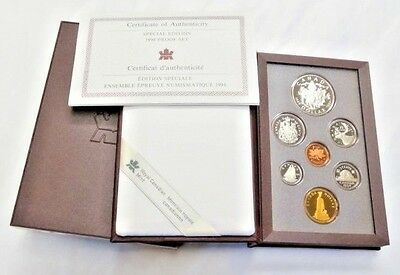 1994 Canadian 7 Coin Double Dollar SPECIAL EDITION RCMP SILVER DOLLAR Proof Set